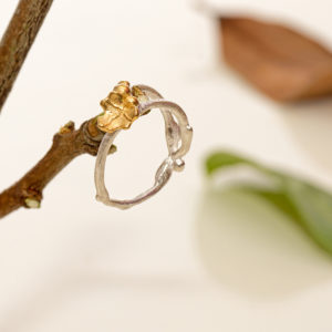 Gold Plated Ivy And Entwined Vine Ring