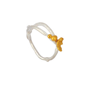 ForestR3b Gold Ivy & Vine Split Ring