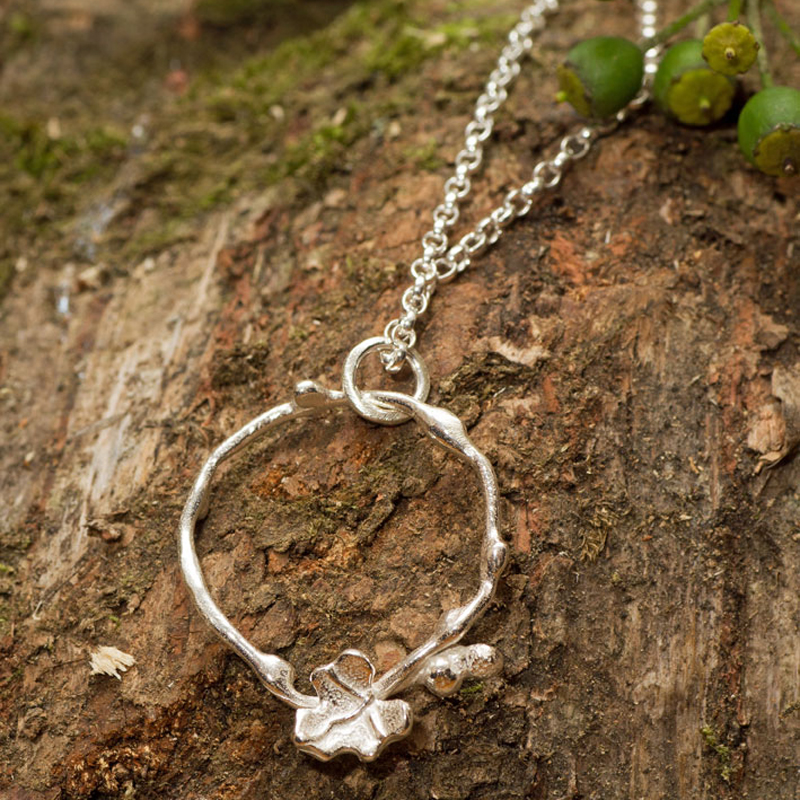 Sterling Silver Ivy And Vine Pendant