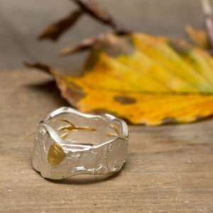 Owl Footprint Ring Lrg